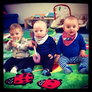 Santi and his buddies Olivia and Noah