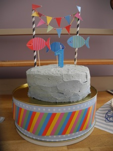 Nautical fish birthday cake