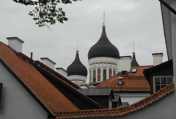 And a lovely view of Alexander Nevsky over the rooftops